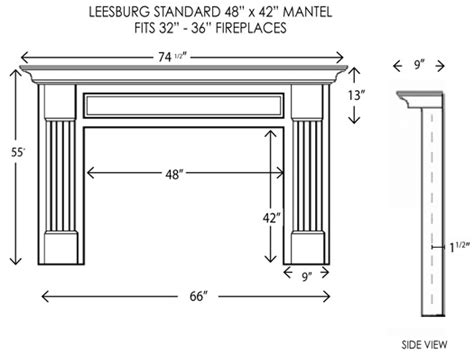 Fireplace Mantel Proportions by Wood Fireplace Mantels Mantel Surrounds Leesburg