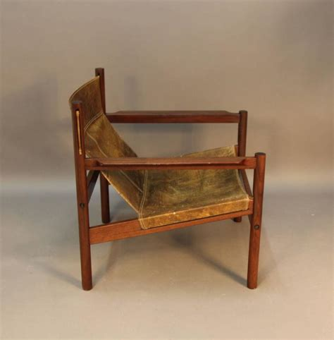michel arnoult distressed leather sling  chair  stdibs
