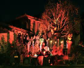 Homes Decorated For Halloween diy outdoor decorations for halloween the halloween master haunted