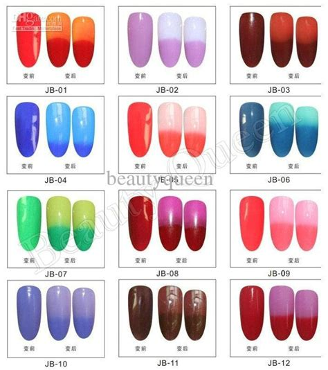 color mood chart mood color changing gel nail polish perfect match mood changing color gel polish soak off