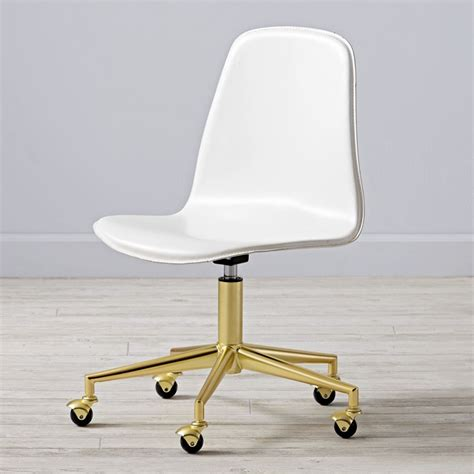 white desk chair pink gold class act desk chair the land of nod