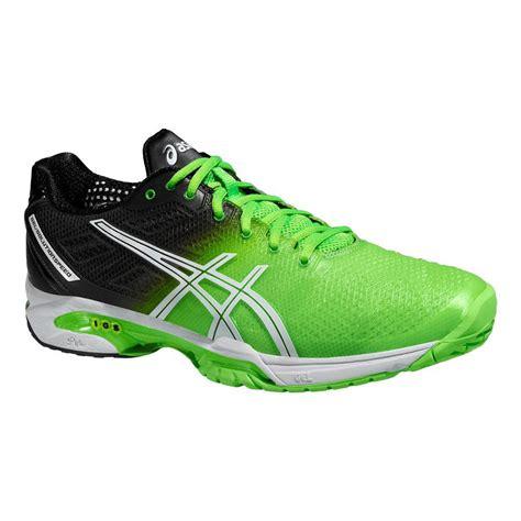 asics mens gel solution speed 2 tennis shoes green black
