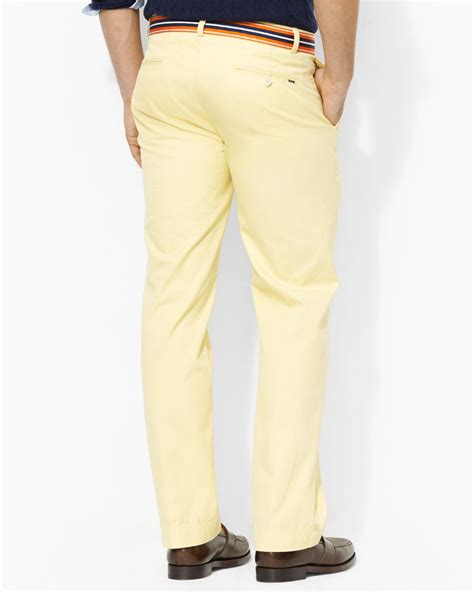 Mens Yellow Chino Pants   White Pants 2016