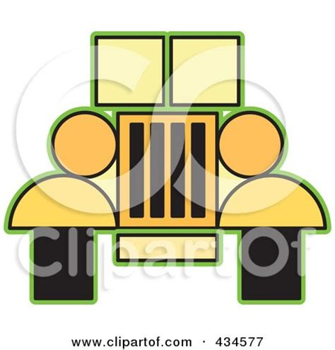 yellow jeep clipart yellow jeep suv with a grill posters art prints by