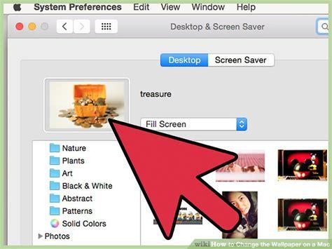 change desktop background mac 4 ways to change the wallpaper on a mac wikihow