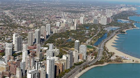 retiring aerial view of chicago s lincoln park