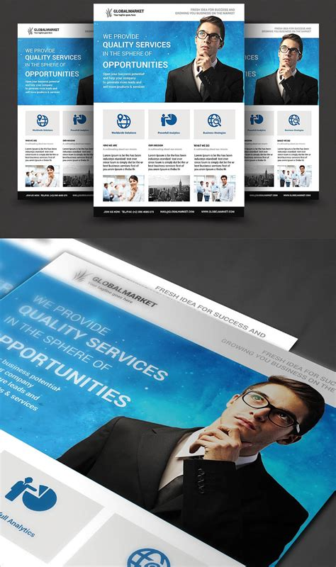 awesome corporate flyer templates inspiration design blog