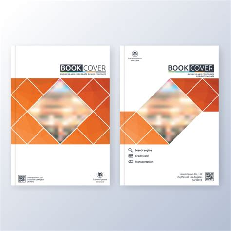 book cover template vector free download