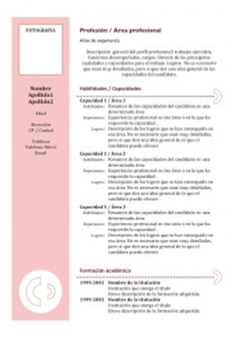 Modelo Curriculum Vitae Combinado Word Templates And Exles Joblers