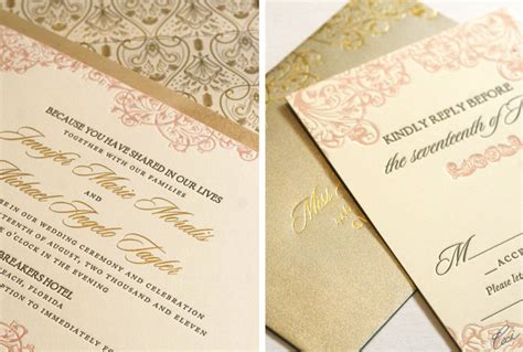 diy pink and gold wedding invitations best album of pink and gold wedding invitations