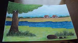 Landscape Pictures To Draw And Paint How To Draw A Landscape In Pastel Part 2