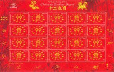 Perangko 12 Lambang Shio 2007 Ss koleksi filateli dan numismatik 12 lambang shio