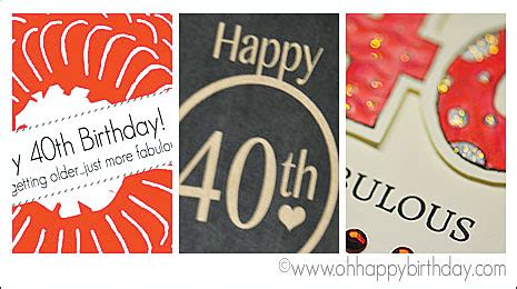 happy 40th birthday card template happy 40th birthday cards free printable cards
