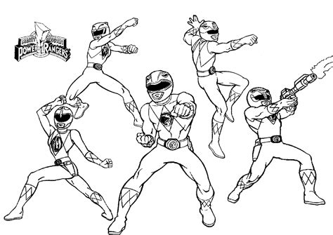 power rangers team coloring pages mighty morphin power rangers kids colouring pages