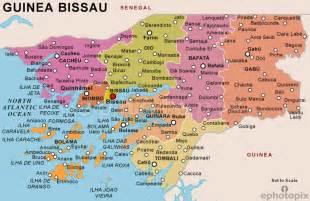 guinea bissau political map guinea bissau regionen karte