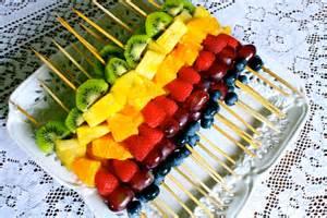 Fresh fruit skewers the ine addiction