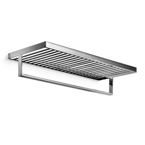 Chrome Bathroom Shelves For Towels Chrome Bath Towel Shelf Bellacor