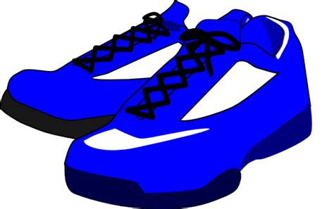 animated running shoes blue shoes clip at clker vector clip