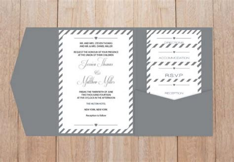 diy pocket wedding invitations templates diy pocket wedding invitation template set grey carnival