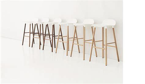 Normann Copenhagen Bar Stool by Form Bar Stool With Wood Legs By Simon Legald Normann