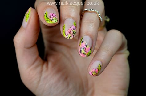 nail art tutorial uk neon flowers nail art tutorial nail lacquer uk