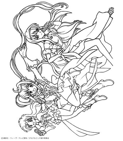 mermaid melody coloring pages hellokids com