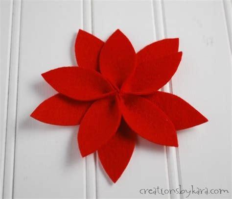 pattern for felt poinsettia flower felt poinsettia yarn wreath