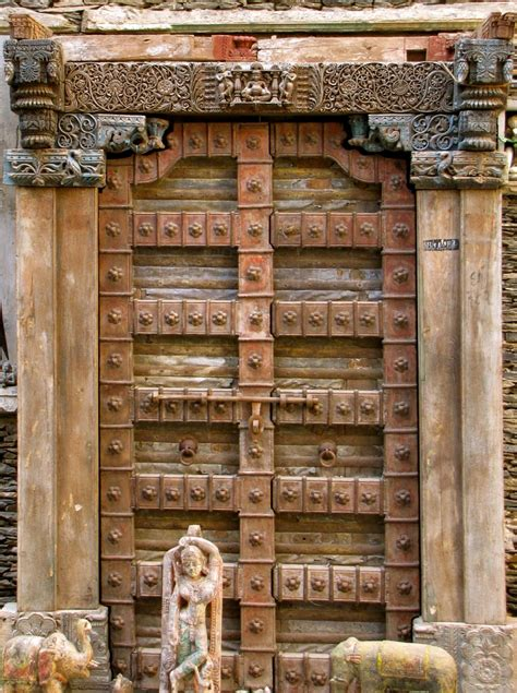 Indian Doors by Antique Carved Indian Door An Eye On The World