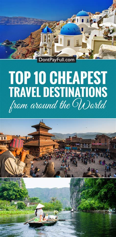 Top 10 Cheapest Travel Destinations   Travel   Cheap