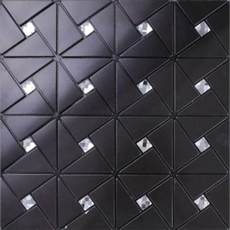Peel And Stick Mosaic Tile Peel And Stick Backsplash Diamond Tile Black Aluminum