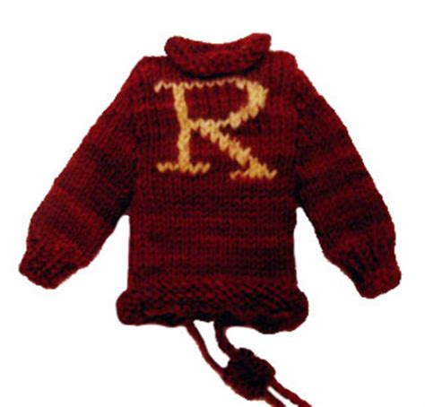 knitting pattern ron weasley jumper weasley sweater cellphone cozy the leaky cauldron org