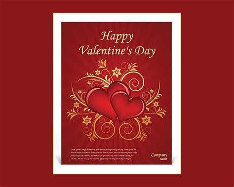 valentine templates for word 61 best microsoft word flyer templates free premium