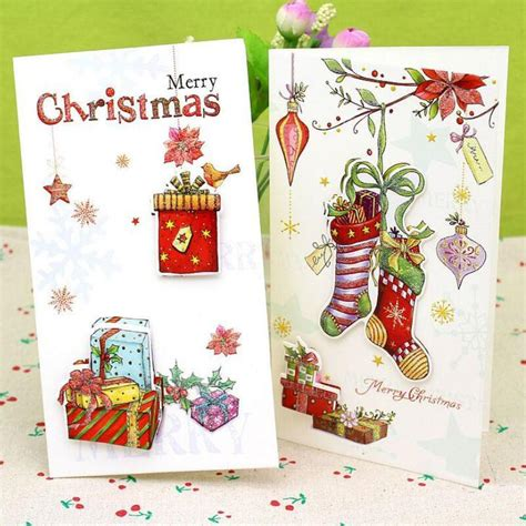 pcslot  printed christmas greeting cards merry christmas gifts postcards  year gift
