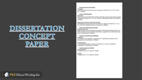 dissertation concept paper concept paper best exles