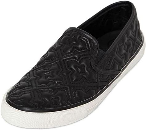 Leather Quilted Slip On Sneakers by Burch Quilted Leather Slip On Sneakers In Black