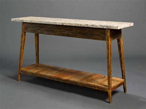 Kitchen Work Table Island stone top console with shelf landrum tables