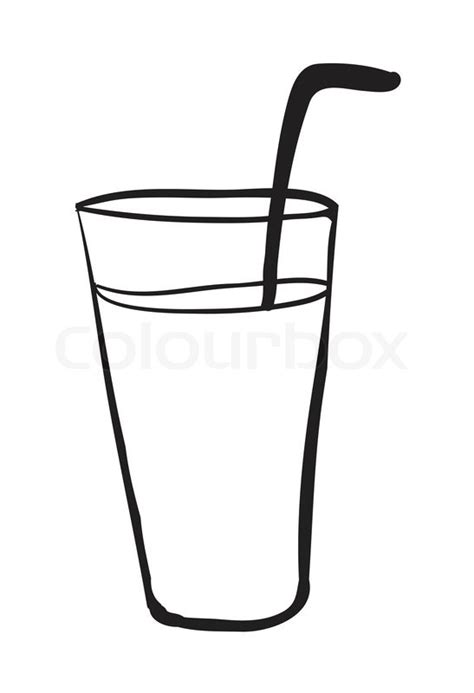 Glass Outline by Glass Outline Stock Vector Colourbox