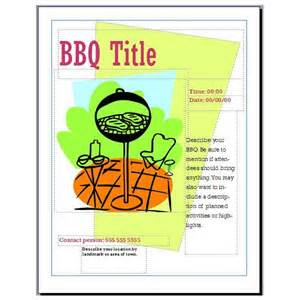 bbq fundraiser flyer template how to make a poster in microsoft publisher