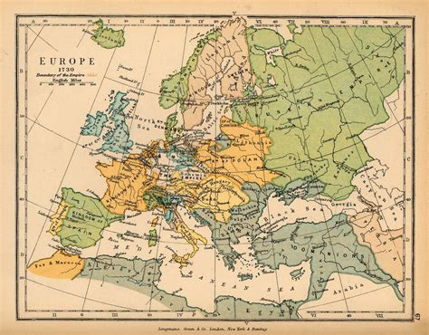 historical maps map of europe 1730