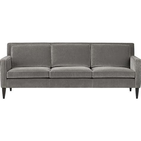 gray velvet couch mid century gray velvet sofa
