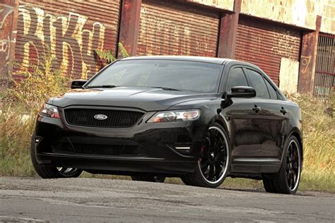 2019 ford interceptor sedan sema show stealthy ford taurus interceptor concept