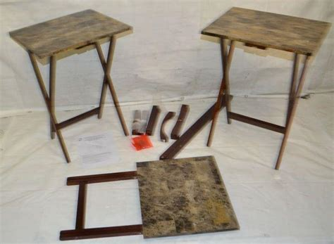 linon home decor tray table set faux marble brown linon home decor 5pc tray table set faux marble brown ebay