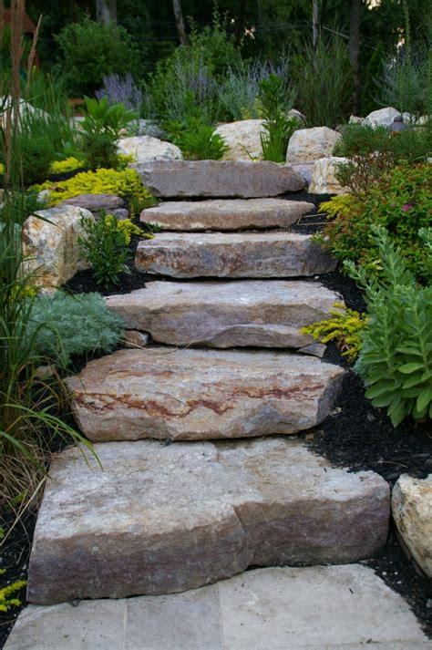 Rock Garden Steps Landscape Design Landscape Contractors Elaoutdoorliving Central Bucks Montgomery County Pa