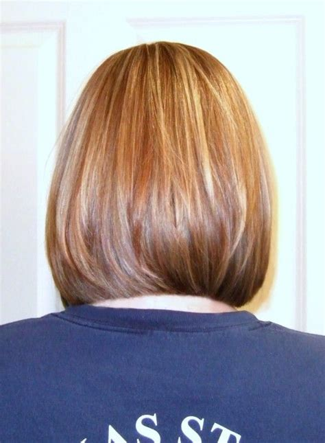 bob layered hairstyles front and back view pictures of medium length inverted bob back view