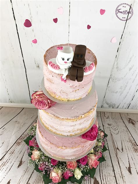 Hochzeitstorte Kinderschokolade by Hochzeitstorte Mit Kinderschokolade Figuren Frau Fon Dant