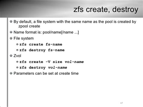 format zfs file system zfs tutorial usenix lisa09 conference