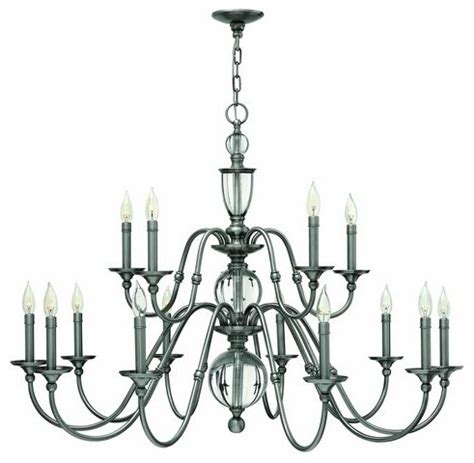 Popular Chandelier Styles Hinkley Lighting 4959 Eleanor 15 Light 2 Tier Candle Style Chandelier Traditional
