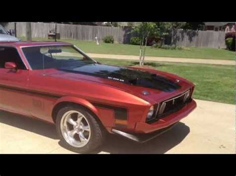 ford mustang mach  burn  classic muscle car fo