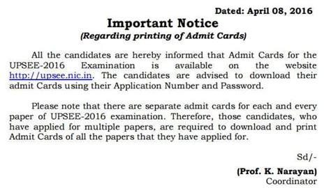 Uptu Mba Entrance Syllabus 2017 by Upsee Admit Card 2017 Uptu Admit Card Here