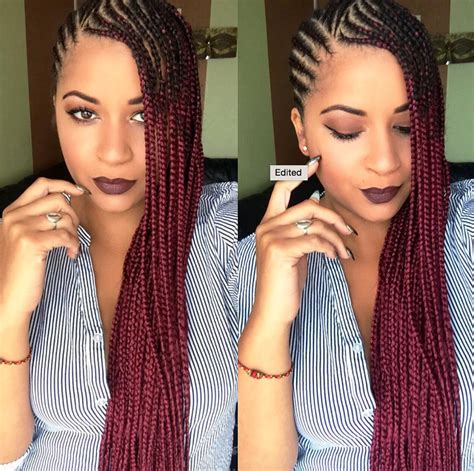 dope girl haircuts tumblr 2016 tone hair and body 2016 dope red ombre braids eugenze black hair information